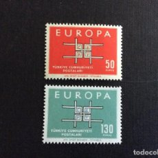 Sellos: TURQUIA Nº YVERT 1672/3*** AÑO 1963. EUROPA. Lote 129112379