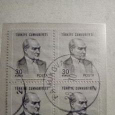 Sellos: TURQUIA 1970. Lote 131013209