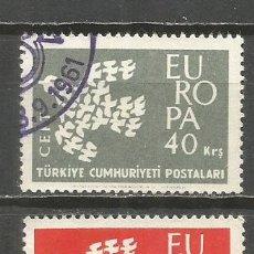 Sellos: TURQUIA YVERT NUM. 1600/1601 USADOS TEMA EUROPA . Lote 132306498