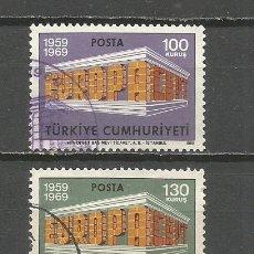 Sellos: TURQUIA YVERT NUM. 1891/1892 SERIE COMPLETA USADA TEMA EUROPA. Lote 132307634