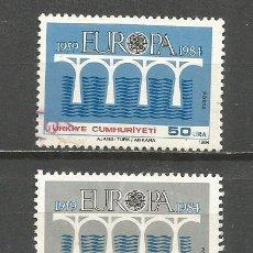 Sellos: TURQUIA YVERT NUM. 2425/2426 SERIE COMPLETA USADA TEMA EUROPA. Lote 132308518