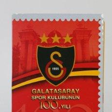 Sellos: PACK ESPECIAL - 110 ANIVERSARIO FÚTBOL CLUB GALATASARAY - ISTANBUL - AÑO 2005. Lote 133092486