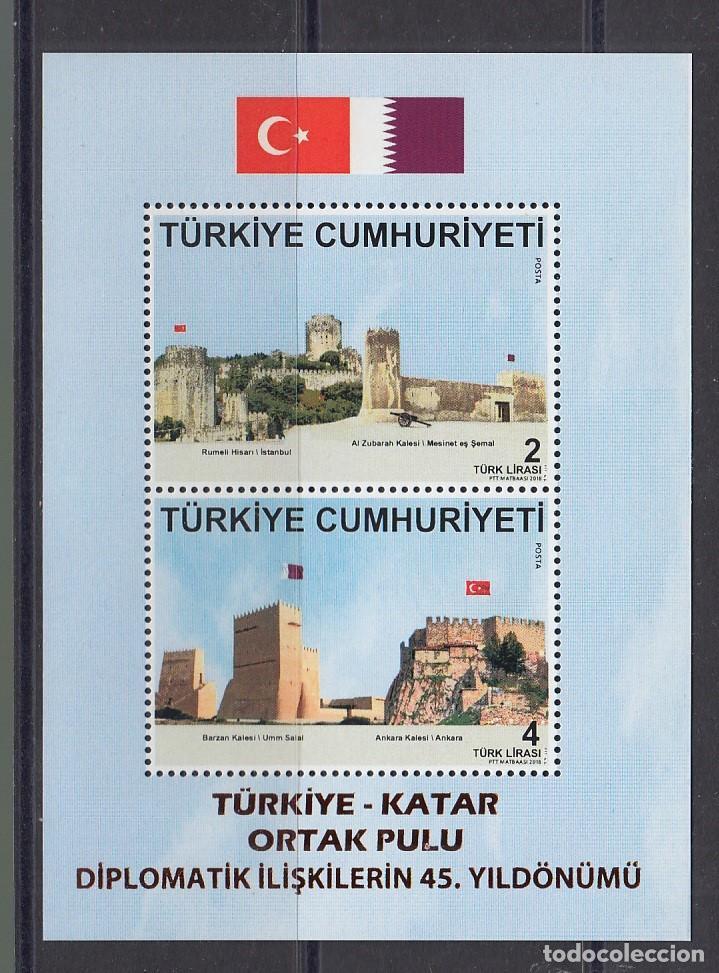 TURQUIA 2018 EMISION CONJUNTA CON QATAR (Sellos - Extranjero - Europa - Turquía)