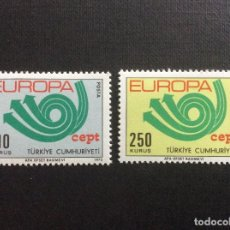 Sellos: TURQUIA Nº YVERT 2050/1*** AÑO 1973. EUROPA. Lote 137946818