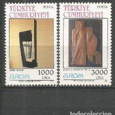 Sellos: TURQUIA YVERT NUM. 2732/2733 ** SERIE COMPLETA SIN FIJASELLOS. Lote 143832250