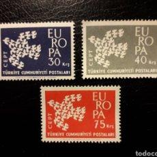 Sellos: TURQUÍA. YVERT 1579/81 SERIE COMPLETA NUEVA SIN CHARNELA. EUROPA CEPT.. Lote 149656894