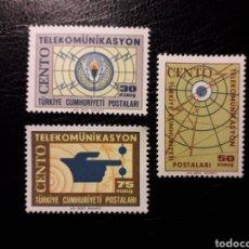 Sellos: TURQUÍA. YVERT 1721/3 SERIE COMPLETA NUEVA SIN CHARNELA. TELECOMUNICACIONES.. Lote 149657230