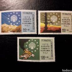 Sellos: TURQUÍA. YVERT 1933/5 SERIE COMPLETA NUEVA SIN CHARNELA. CONSERVACIÓN DE LA NATURALEZA. Lote 149660085