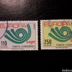 Selos: TURQUÍA. YVERT 2050/1 SERIE COMPLETA USADA. EUROPA CEPT.. Lote 149768568