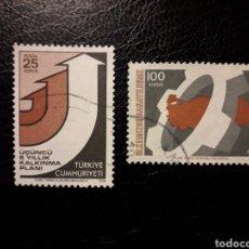 Sellos: TURQUÍA. YVERT 2111/2 SERIE COMPLETA USADA. PROGRAMA DE DESARROLLO.. Lote 149768941