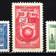 Sellos: 1955 TURQUÍA MICHEL MI 1429/1431 MNH** NUEVOS SIN CHARNELA - DEPORTES FÚTBOL FOOTBALL. Lote 150051466
