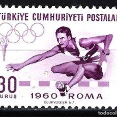 Sellos: 1960 TURQUÍA YVERT YV 1562 MNH** NUEVO SIN CHARNELA - DEPORTES ATLETISMO JUEGOS OLÍMPICOS ROMA. Lote 150052094
