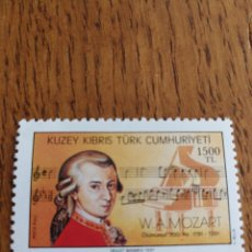 Sellos: TURQUIA:MÚSICA, COMPOSITORES, MOZART, MNH. Lote 154774690