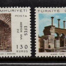 Sellos: TURQUIA 1841/42** - AÑO 1967 - VISITA DEL PAPA PABLO VI A EFESO. Lote 156863106