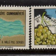 Sellos: TURQUIA 1845/46** - AÑO 1967 - EXPOSICION FILATELICA NACIONAL. Lote 156863322