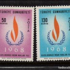 Selos: TURQUIA 1853/54** - AÑO 1968 - AÑO INTERNACIONAL DE LOS DERECHOS HUMANOS. Lote 157378918