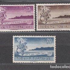 Sellos: TURQUIA - CORREO 1947 YVERT 1054/6 ** MNH. Lote 159071254