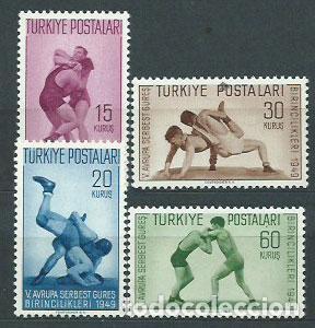 TURQUIA - CORREO 1949 YVERT 1083/6 ** MNH DEPORTES (Sellos - Extranjero - Europa - Turquía)