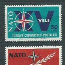 Sellos: TURQUIA - CORREO 1964 YVERT 1686/7 ** MNH. Lote 159071785
