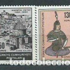 Sellos: TURQUIA - CORREO 1964 YVERT 1695/6 ** MNH. Lote 159071789