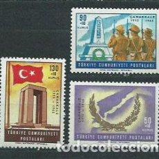 Sellos: TURQUIA - CORREO 1965 YVERT 1724/6 ** MNH. Lote 159071829