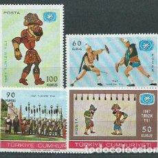 Sellos: TURQUIA - CORREO 1967 YVERT 1814/7 ** MNH. Lote 159071921