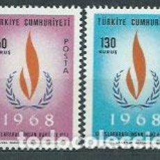 Sellos: TURQUIA - CORREO 1968 YVERT 1853/4 ** MNH. Lote 159071977