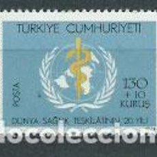 Sellos: TURQUIA - CORREO 1968 YVERT 1867 ** MNH MEDICINA. Lote 159071997