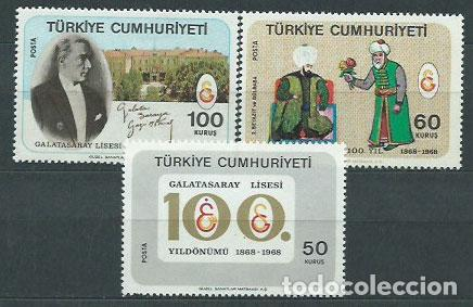 TURQUIA - CORREO 1968 YVERT 1877/9 ** MNH (Sellos - Extranjero - Europa - Turquía)
