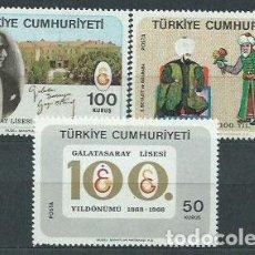 Sellos: TURQUIA - CORREO 1968 YVERT 1877/9 ** MNH. Lote 159072021