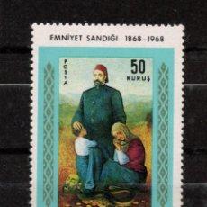 Sellos: TURQUIA 1874** - AÑO 1968 - CENTENARIO DEL MONTE DE PIEDAD DE ESTAMBUL. Lote 159113566