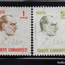 Sellos: TURQUIA 1936/37** - AÑO 1970 - MUSTAFA KEMAL ATATURK. Lote 159116090