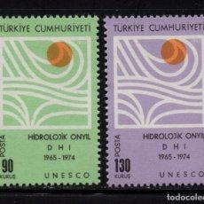 Sellos: TURQUIA 1849/50** - AÑO 1967 - DECENIO HIDROLOGICO INTERNACIONAL. Lote 159527910