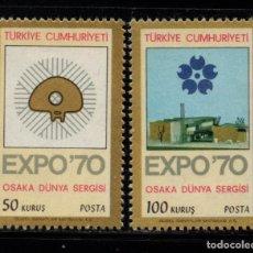 Sellos: TURQUIA 1939/40** - AÑO 1970 - EXPO 70, EXPOSICION UNIVERSAL DE OSAKA. Lote 159530526