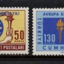 Sellos: TURQUIA 1688/89** - AÑO 1964 - 15º ANIVERSARIO DEL CONSEJO DE EUROPA. Lote 160149506