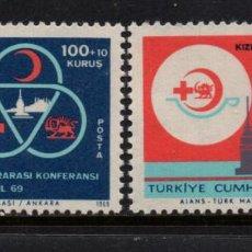 Selos: TURQUIA 1916/17** - AÑO 1969 - CONFERENCIA DE SOCIEDADES DE LA CRUZ ROJA. Lote 160150574