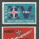 Sellos: TURQUIA ANIVERSARIO DE LA OTAN YVERT NUM. 1686/1687 ** SERIE COMPLETA SIN FIJASELLOS. Lote 160676770