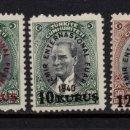 Sellos: TURQUIA 936/38** - AÑO 1940 - FERIA INTERNACIONAL DE IZMIR. Lote 160988278