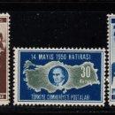 Sellos: TURQUIA 1102/04** - AÑO 1950 - ELECCIONES GENERALES. Lote 160988970