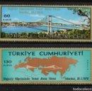 Sellos: TURQUIA 1931/32** - AÑO 1970 - PUENTE SOBRE EL BOSFORO. Lote 160990226