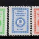 Sellos: TURQUIA SERVICIO 96/98** - AÑO 1965 - SOL. Lote 165077174