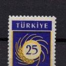 Sellos: TURQUIA 1419** - AÑO 1959 - 25º ANIV. DE LA FACULTAD DE AGRICULTURA DE LA UNIVERSIDAD DE ANKARA. Lote 165640186