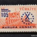 Sellos: TURQUÍA 1442** - AÑO 1959 - 10º ANIVERSARIO DEL CONSEJO DE EUROPA. Lote 165640566