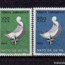 Sellos: TURQUIA 2021/22** - AÑO 1972 - 20º ANIVERSARIO DE LA ENTRADA DE TURQUIA EN LA OTAN. Lote 166183942