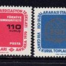 Sellos: TURQUIA 1966/67** - AÑO 1970 - ASAMBLEA GENERAL DE LA ORGANIZACION INTERNACIONAL DE ESTANDARIZACIÓN. Lote 167429116