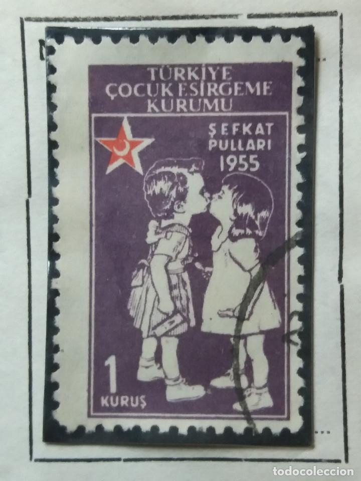 TURQUIA, 2 CURUS, LUNA ROJA,, AÑO 1955, SIN USAR (Sellos - Extranjero - Europa - Turquía)