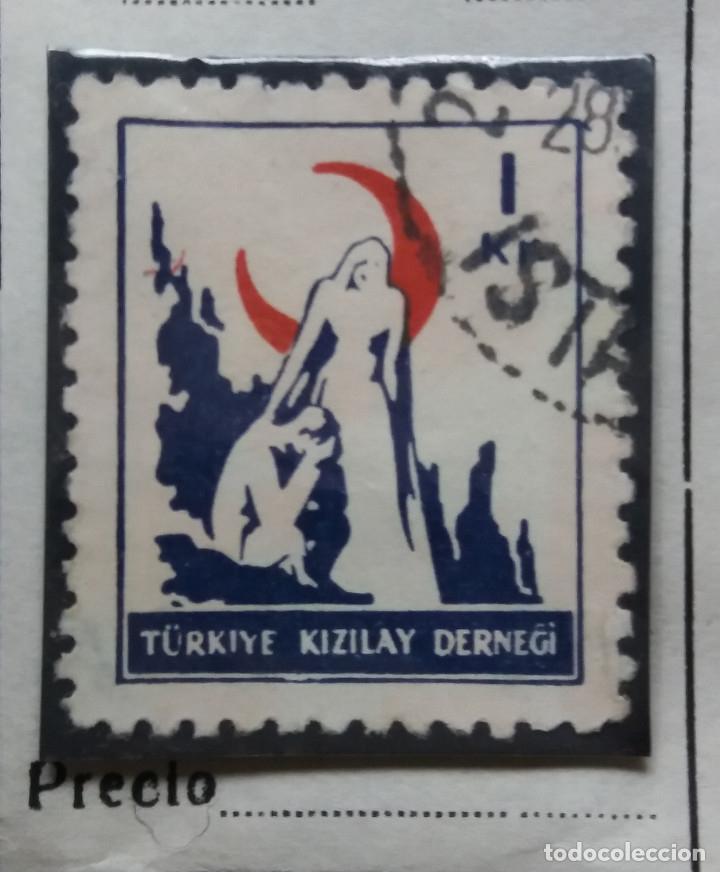 TURQUIA, 1 CURUS, LUNA ROJA,, AÑO 1955, SIN USAR (Sellos - Extranjero - Europa - Turquía)