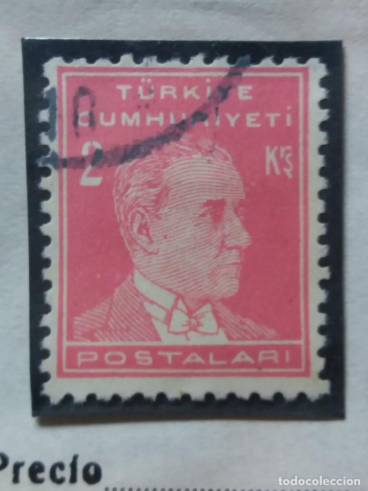 TURQUIA, 3 KURUS, KAMAL ATATURK, AÑO 1953, SIN USAR (Sellos - Extranjero - Europa - Turquía)