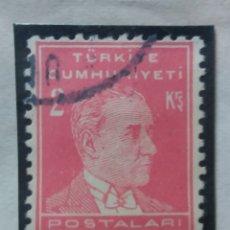 Sellos: TURQUIA, 3 KURUS, KAMAL ATATURK, AÑO 1953, SIN USAR. Lote 176126298