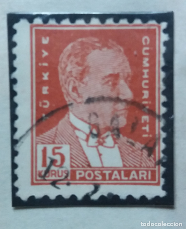 TURQUIA, 15 KURUS, KAMAL ATATURK, AÑO 1951, SIN USAR (Sellos - Extranjero - Europa - Turquía)